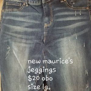 Maurices jeggings size lg. NWOT